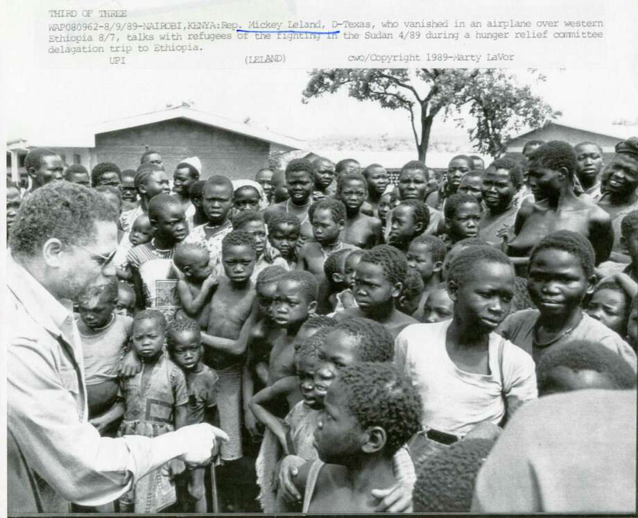 The late U.S.  Rep. Mickey Leland, left,  worked to expand ties and increase aid to the nations of Africa, which remains his biggest legacy.