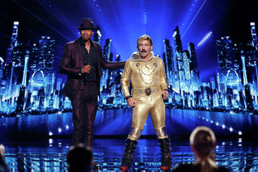 AMERICA'S GOT TALENT -- Episode 912 -- Pictured: (l-r) Nick Cannon, Juan Carlos -- (Photo by: Eric Liebowitz/NBC) Photo: NBC, Eric Liebowitz/NBC / 2014 NBCUniversal Media, LLC.