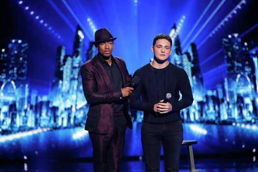 AMERICA'S GOT TALENT -- Episode 912 -- Pictured: (l-r) Nick Cannon, Jaycob Curlee -- (Photo by: Eric Liebowitz/NBC) Photo: NBC, Eric Liebowitz/NBC / 2014 NBCUniversal Media, LLC.