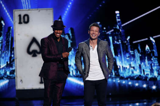 AMERICA'S GOT TALENT -- Episode 912 -- Pictured: (l-r) Nick Cannon, Mat Franco -- (Photo by: Eric Liebowitz/NBC) Photo: NBC, Eric Liebowitz/NBC / 2014 NBCUniversal Media, LLC.