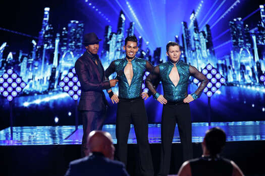 AMERICA'S GOT TALENT -- Episode 912 -- Pictured: (l-r) Nick Cannon, John & Andrew -- (Photo by: Eric Liebowitz/NBC) Photo: NBC, Eric Liebowitz/NBC / 2014 NBCUniversal Media, LLC.