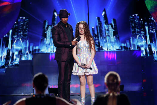 AMERICA'S GOT TALENT -- Episode 912 -- Pictured: (l-r) Nick Cannon, Mara Justine -- (Photo by: Eric Liebowitz/NBC) Photo: NBC, Eric Liebowitz/NBC / 2014 NBCUniversal Media, LLC.