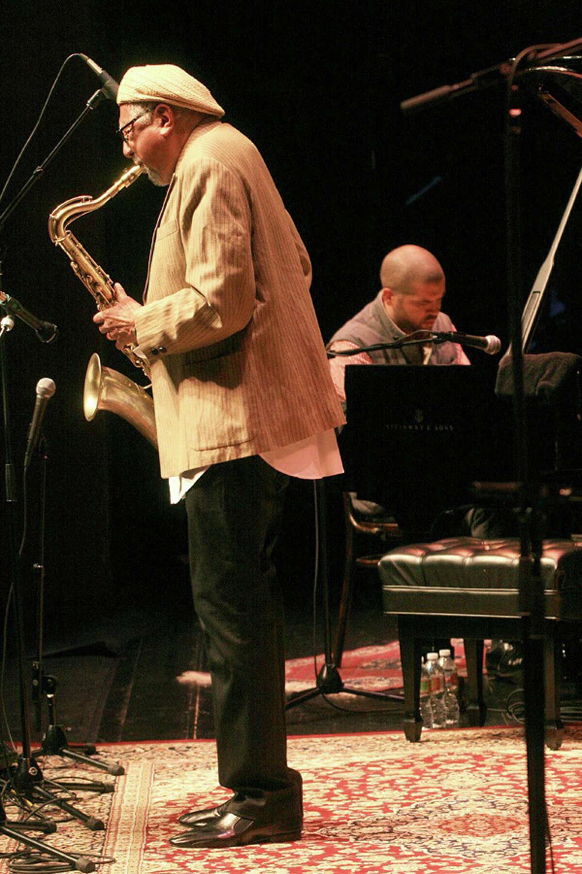 Jazz saxophonist Charles Lloyd and pianist Jason Moran performing for Da Camera of Houston
