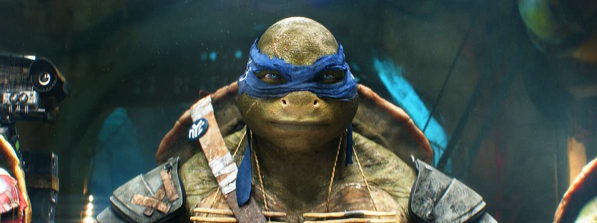 This image released by Paramount Pictures shows the character Leonardo in a scene from