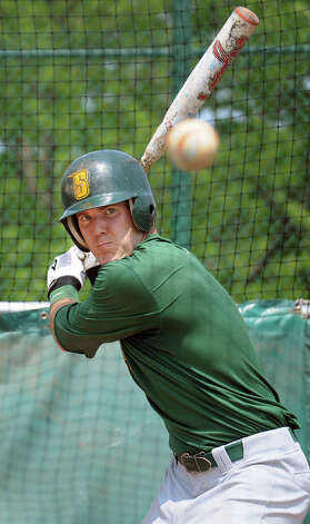 Siena senior centerfielder Mike Fish bats during baseball practice on Tuesday, May 21, 2013, at Siena College in Loudenville, N.Y. Fish is a Bethlehem graduate who's a candidate to win Player of the Year in the Metro Atlantic Athletic Conference. (Cindy Schultz / Times Union) Photo: Cindy Schultz / 00022498A