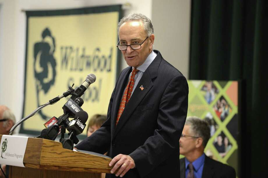 Sen. Charles Schumer during a press conference Wednesday afternoon, Aug. 6, 2014, at Wildwood Programs in Guilderland, N.Y., where he called for passage of a bill to create IRA-like savings accounts to help parents of disabled kinds save money for their care, the Achieving a Better Life Experience Act (ABLE). (Will Waldron/Times Union) Photo: WW