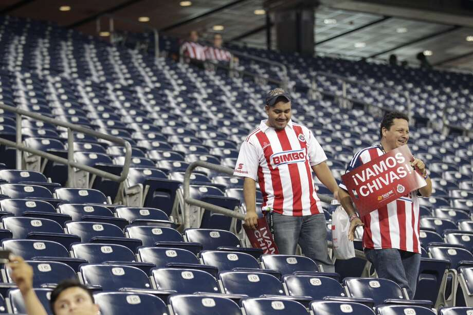 "Wednesday night's ""friendly"" game brought out avid fans for both Chivas and AC Milan at NRG Stadium in Houston. Photo: Johnny Hanson / Houston Chronicle"