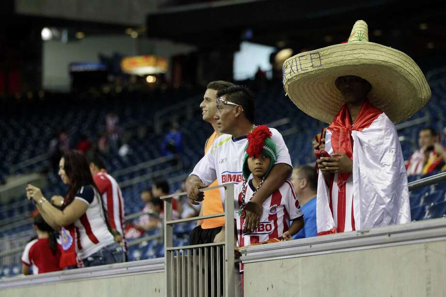 Fans are ready for the Chivas vs. AC Milan game to begin Wednesday night at NRG Stadium in Houston. Photo: Johnny Hanson / Houston Chronicle