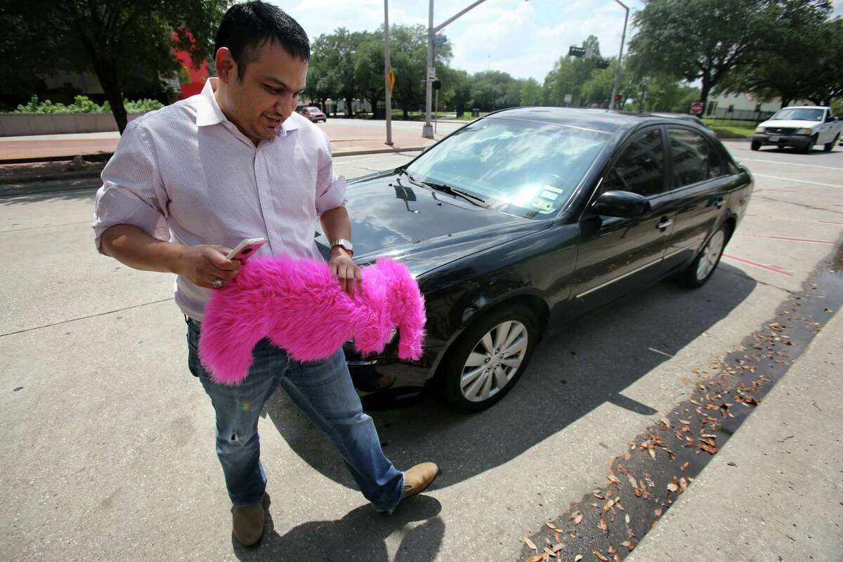 Younus Hyder, a Lyft driver for the past month, is relieved to be able to work legally in Houston. The City Council vote lets drivers for Lyft and another startup, Uber, to take fares in their personal cars.