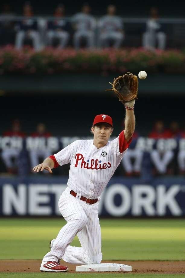 Chase Utley fields a throw. Photo: Matt Slocum, Associated Press