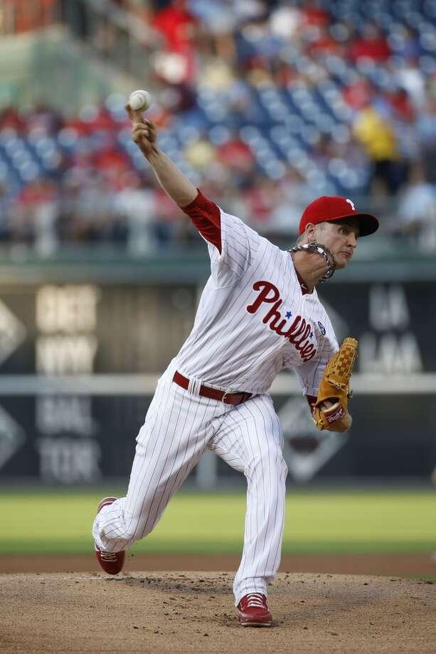 David Buchanan pitches. Photo: Matt Slocum, Associated Press
