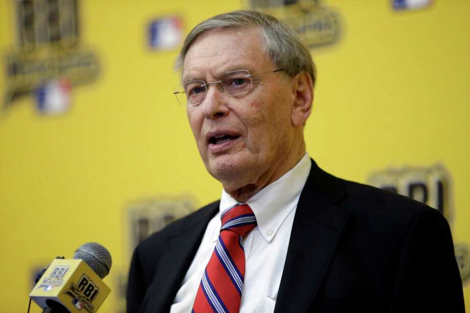"Baseball Commissioner Allan H. ""Bud"" Selig responds to a question from reporters after addressing the baseball participants of the 2014 Reviving Baseball in Inner Cities World Series during a luncheon, Wednesday, Aug. 6, 2014, in Grapevine, Texas. (AP Photo/Tony Gutierrez) Photo: Tony Gutierrez, STF / AP"
