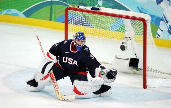 VANCOUVER, BC - FEBRUARY 18:  Jessie Vetter of The United States is seen during the ice hockey women's preliminary game between USA and Finland on day 7 of the 2010 Vancouver Winter Olympics at UBC Thunderbird Arena on February 18, 2010 in Vancouver, Canada.  (Photo by Harry How/Getty Images) *** Local Caption *** Jessie Vetter Photo: Harry How, Getty Images / 2010 Getty Images