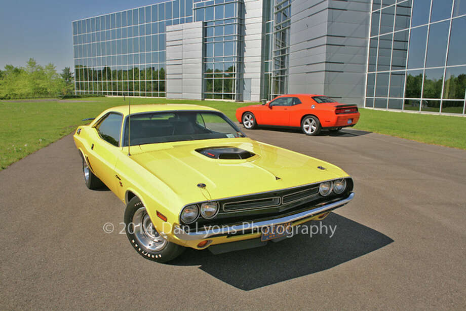 Click through the slideshow to see photos of classic car models, and what they look like today. 1971 Dodge Challenger R/T: When Challenger came on the scene in 1970, it rang up over 83,000 in sales. It's popularity was due to a wide variety of available engines. It was produced through 1974, and then was reintroduced in 2008. Read more about the Dodge Challenger.  Photo: Dan Lyons / (c) Dan Lyons 2008