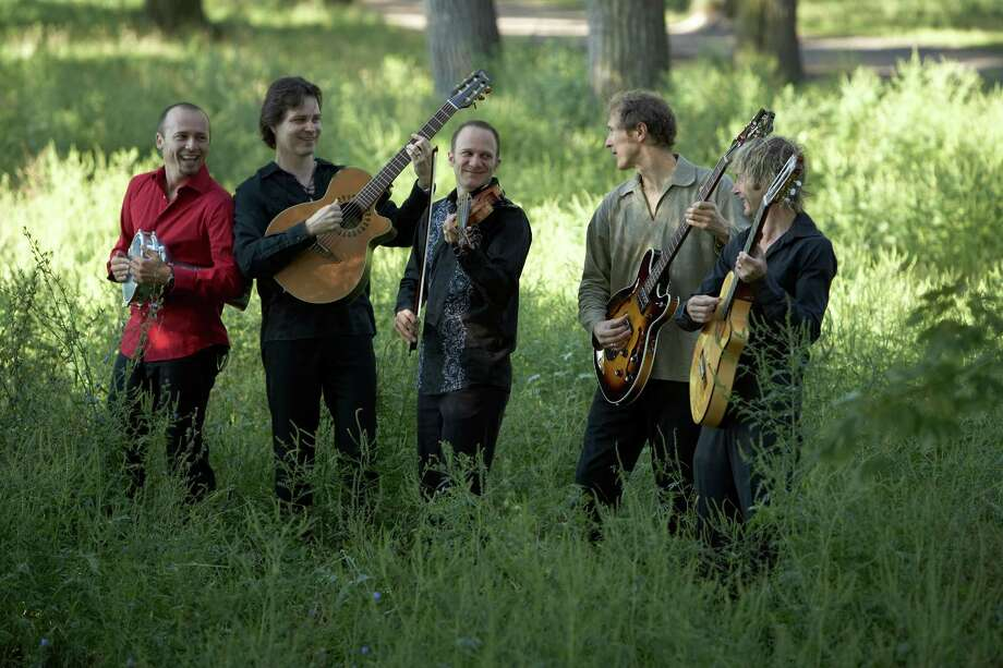 The Sultans of String, a world music ensemble based in Canada, will perform at the Levitt Pavilion for the Performing Arts in Westport, Conn., for two nights. On Aug. 20, 2014, Chris McKhool, center, will bring his FiddleFire! children's music program to the stage. The following night, Aug. 21, the ensemble will share its music. Both concerts are free. Photo: Contributed Photo / Stamford Advocate Contributed photo