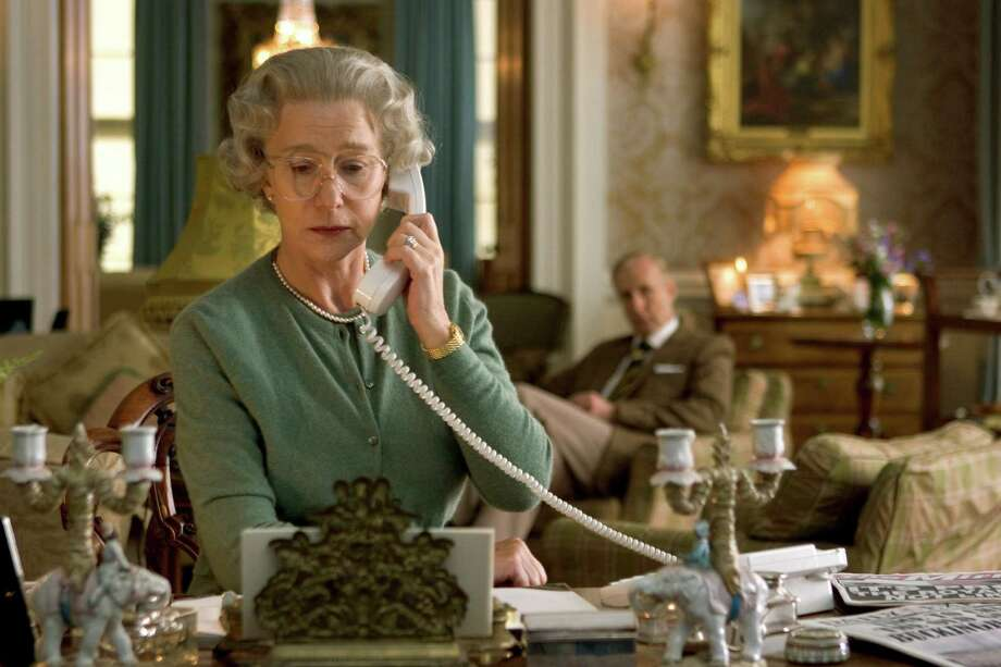 "This promotional photo released by Miramax shows actress Dame Helen Mirren as Queen Elizabeth II in a scene from ""The Queen."" The consensus among Hollywood awards watchers is that ""Dreamgirls,"" ""The Departed"" and ""The Queen,"" are virtual locks for best-picture nominations. (AP Photo/Courtesy of Miramax Films, Laurie Sparham) Photo: Laurie Sparham / MIRAMAX"