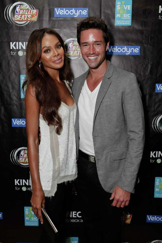 Crystle Stewart and model Max Sebrechts in Los Angeles, California.  (Photo by Tiffany Rose/WireImage) Photo: Tiffany Rose, Getty / 2012 Tiffany Rose