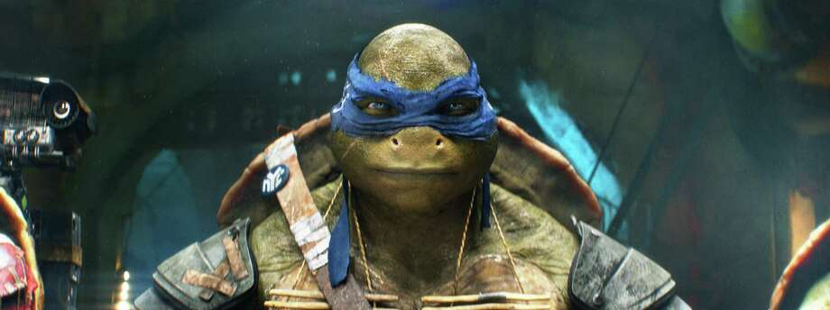 """Leonardo and his """"Teenage Mutant Ninja Turtles"""" friends took the top spot at the box office. Photo: Industrial Light & Magic, HONS / Paramount Pictures"""