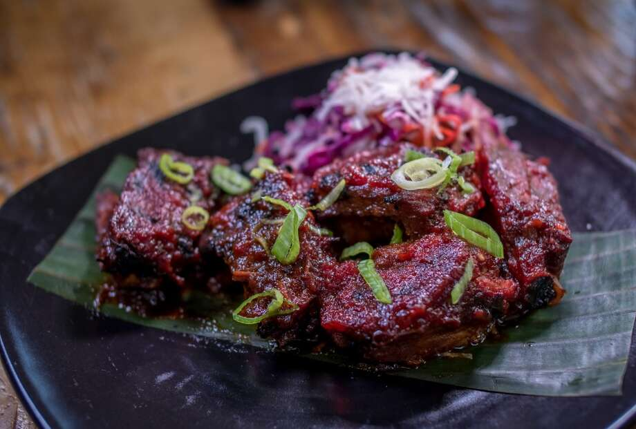 The Sweet & Sour Baby Pork Ribs at Palm House. Photo: John Storey, Special To The Chronicle