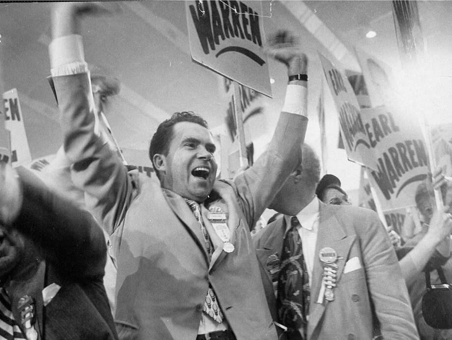 40 years ago Nixon made history as the only US president to resign from office. Take a look back at his career:Above: Richard M. Nixon celebrating at the GOP convention in 1952. Photo: George Skadding, The LIFE Picture Collection/Gett / Time Life Pictures