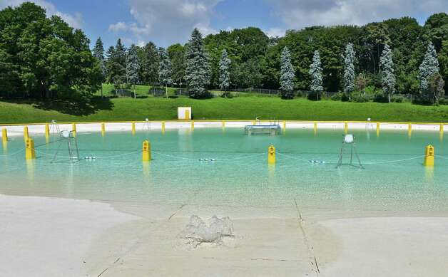 Lincoln Park pool is refilled after being closed temporarily while crews drained the water after recent heavy and damaging storms Thursday August 7, 2014, in Albany, NY.   (John Carl D'Annibale / Times Union) Photo: John Carl D'Annibale / 00028072A