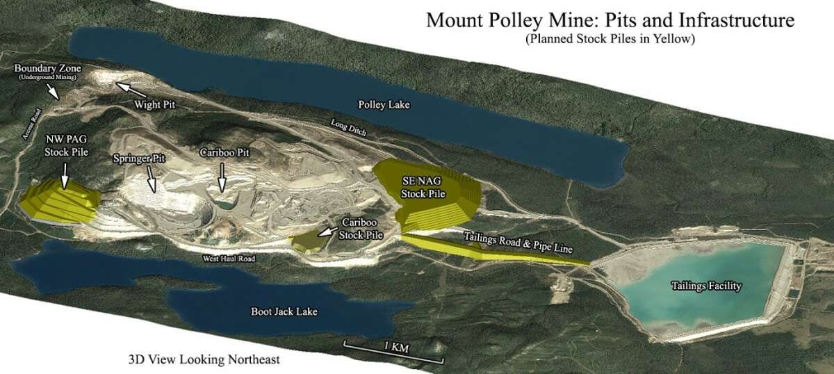 A map of the Mount Polley Mine