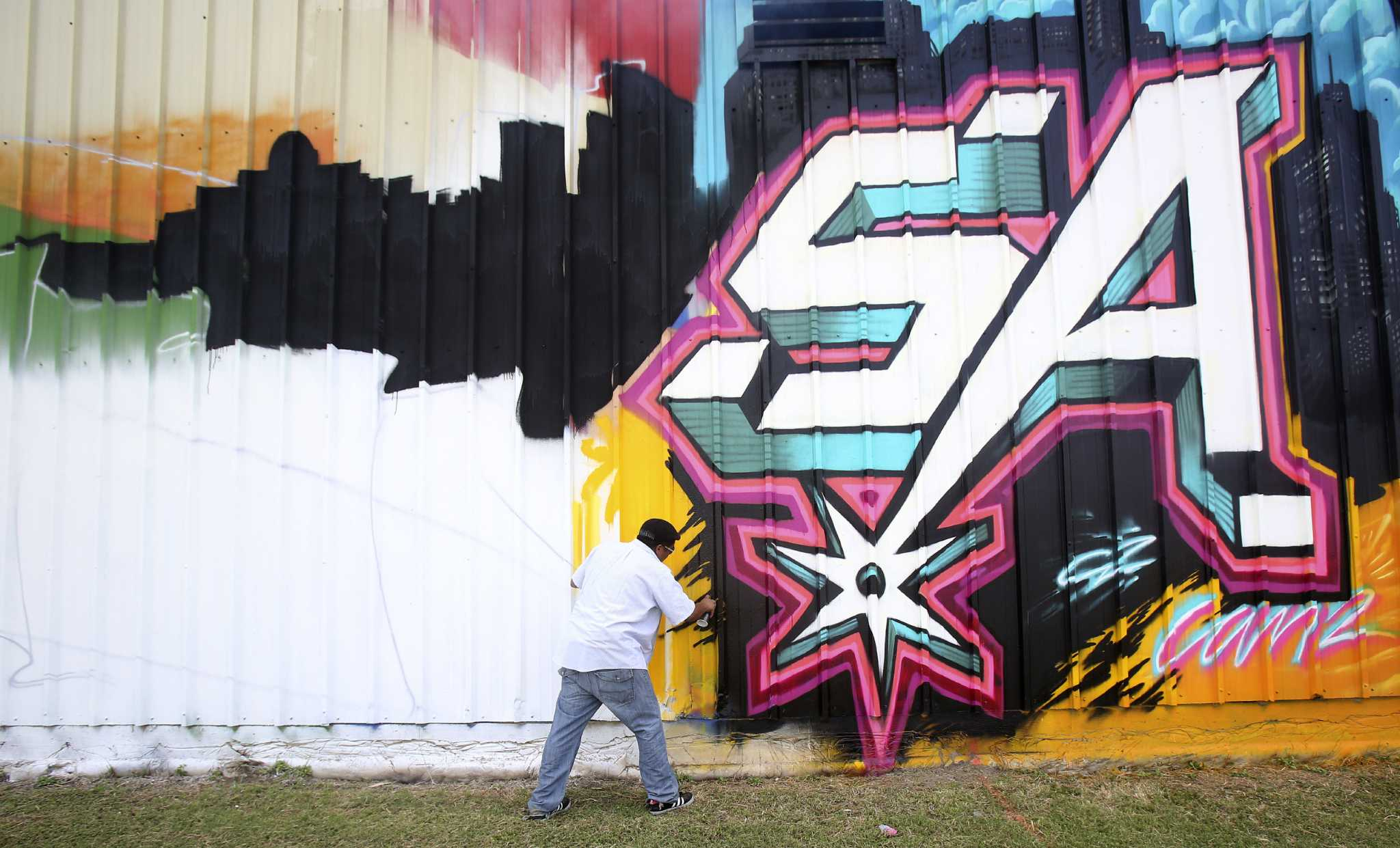 S A S Spray Paint Canvas San Antonio Express News