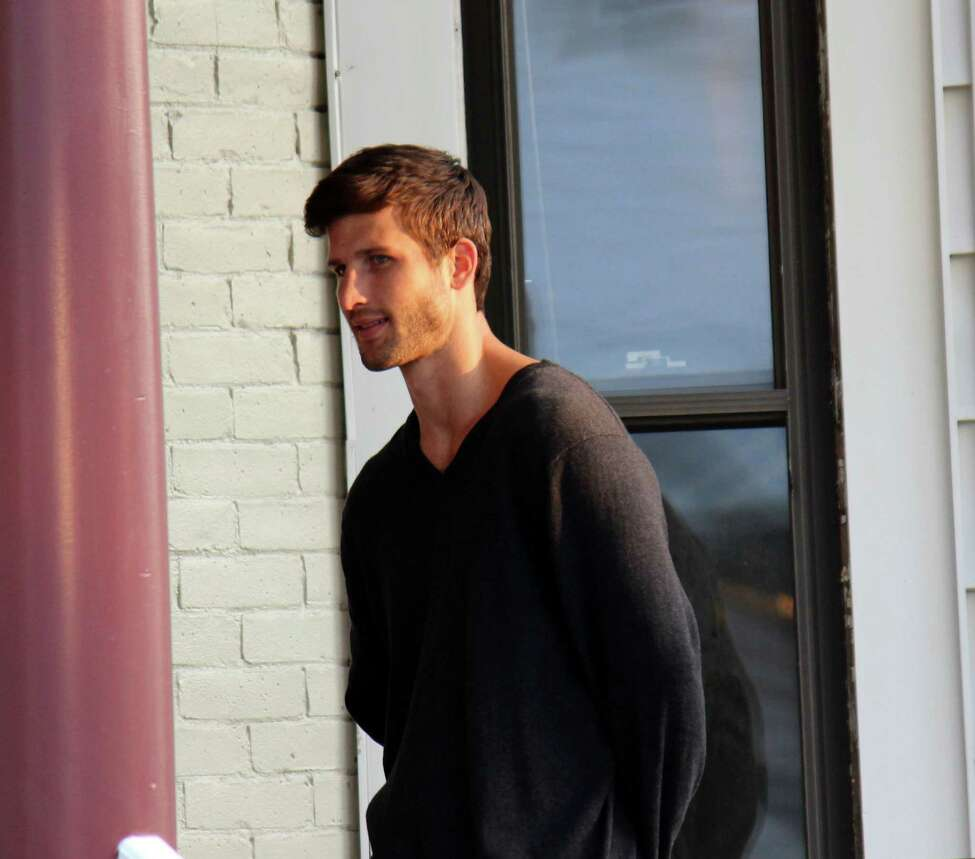 Actor Parker Young on set for the movie