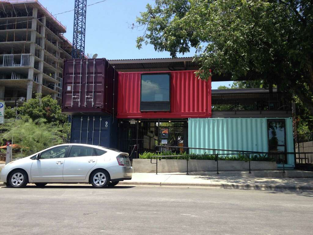 Austin bar made entirely of shipping containers - San Antonio ...