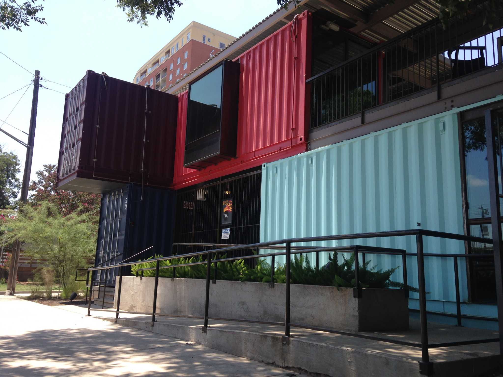 Austin Bar Made Entirely Of Shipping Containers San