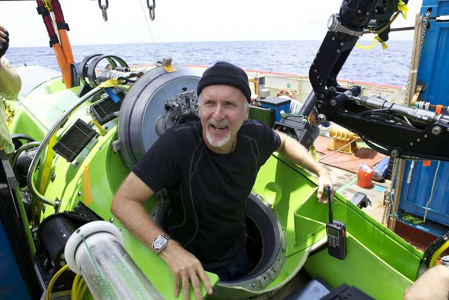 "Director James Cameron aboard the submarine in which he filmed his documentary ""Deepsea Challenge 3D."" Photo: Mark Thiessen, Associated Press"