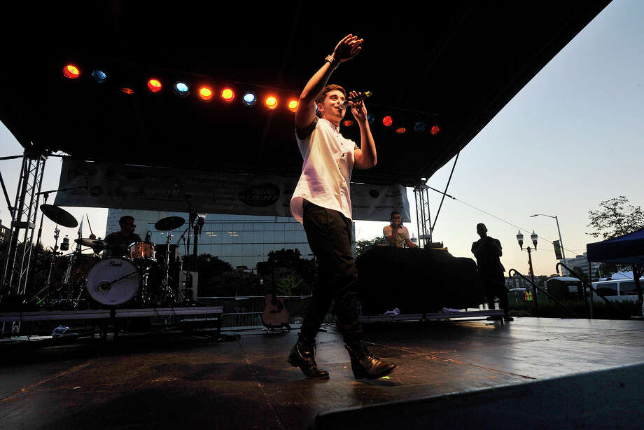 Jake Miller performs during Alive@Five at Columbus Park in Stamford, Conn., on Thursday, Aug. 7, 2014. Hearst Connecticut Media Group is a sponsor of the event. Photo: Jason Rearick / Stamford Advocate