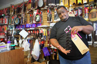 "Don Hilliard said he is going to stop selling high-quality extensions at the Westheimer location of his Brashae's Beauty Supply store after it was hit by burglars Thursday for the fourth time since its opening. ""Is the world becoming so materialistic that you have to break in just to steal a pack of hair?"" he asked."