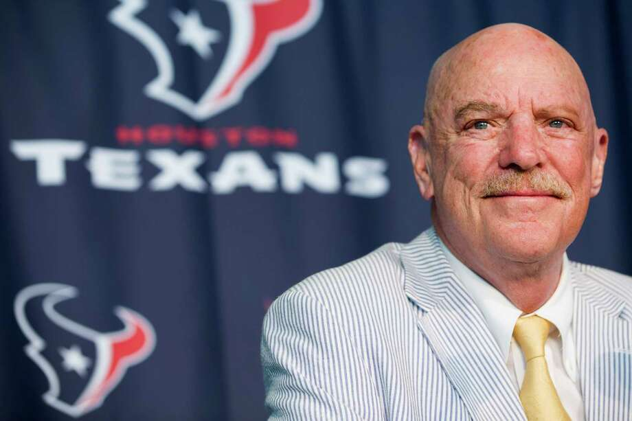 Houston Texans owner Bob McNair talks about his cancer battle during a news conference at NRG Stadium Thursday, Aug. 7, 2014, in Houston. After a 10-month ordeal in which he battled two forms of cancer at the M.D. Anderson Cancer Center, McNair has been given a clean bill of health by the team of doctors that treated him. McNair's remarkable recovery has included ground-breaking experimental treatment for chronic lymphocytic leukemia. ( Brett Coomer / Houston Chronicle ) Photo: Brett Coomer, Staff / © 2014 Houston Chronicle
