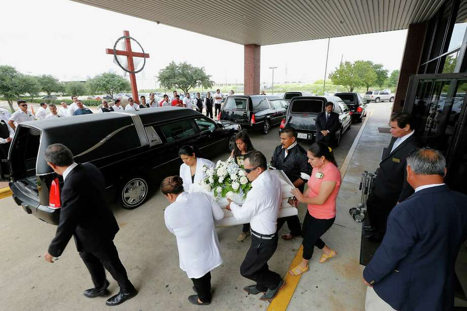 Stephanie Guzman, 15, was still in the hospital Thursday while her family's funeral was held in Houston. Photo: James Nielsen, Staff / © 2014  Houston Chronicle