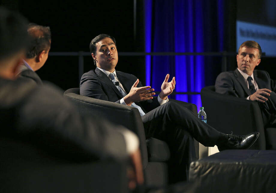 U.S. Rep. Joaquin Castro, D-San Antonio, participates during a panel discussion about the border at the Convention Center. Photo: Tom Reel / San Antonio Express-News