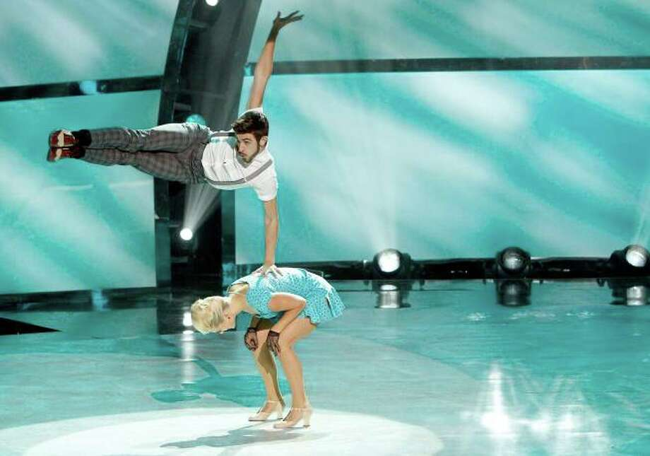 "SO YOU THINK YOU CAN DANCE: L-R: Top 10 contestant Ricky Ubeda and all-star Lauren Froderman perform a Jazz routine to ""Bossa Nova Baby (Viva Mix)"" choreographed by Mandy Moore on SO YOU THINK YOU CAN DANCE airing Wednesday, August 6 (8:00-10:00 PM ET/PT) on FOX. ©2014 FOX Broadcasting Co. Cr: Adam Rose / 1"