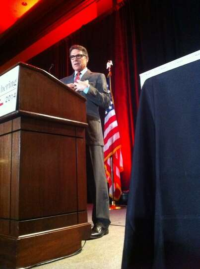 Texas Rick Perry speaks at the Red State Gathering 2014 in Fort Worth, Aug. 8, 2014.