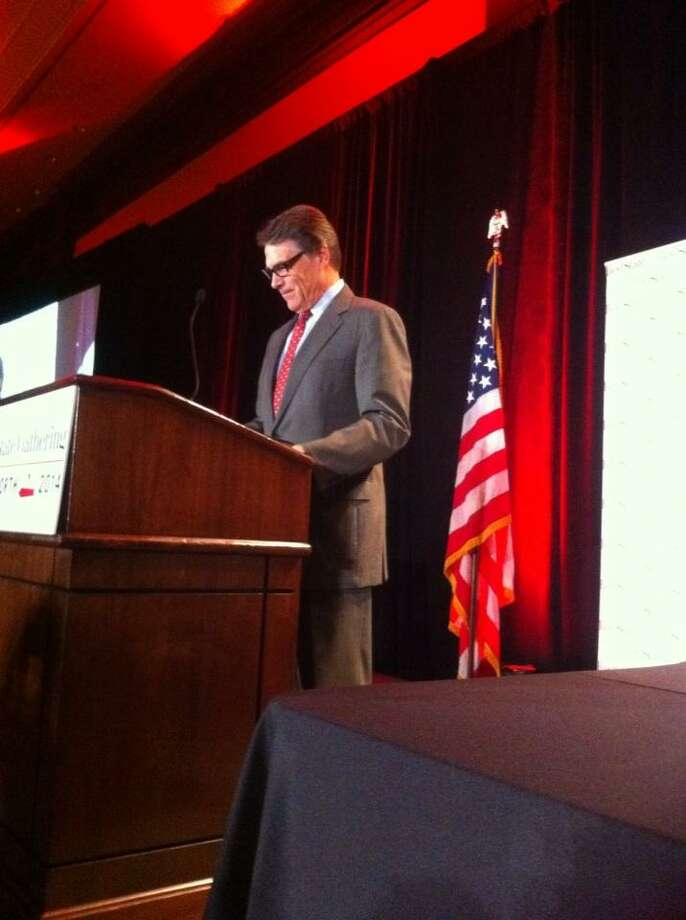 Texas Rick Perry speaks at the Red State Gathering 2014 in Fort Worth, Aug. 8, 2014. Photo: Peggy Fikac/San Antonio Express-News
