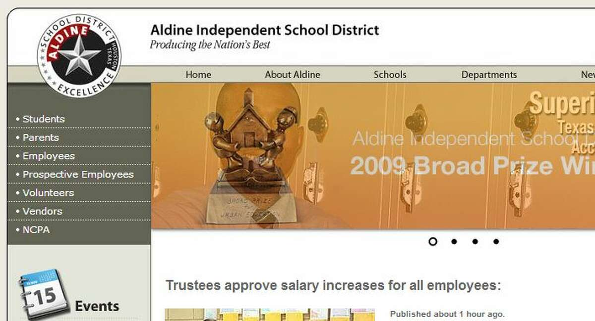 District : Aldine ISD County: Harris  District rating: Met standard  Number of schools that met state standards: 66 Percentage of schools who met state standards: 89.2% Number of schools that did not meet state standards: 8  Percentage of schools that did not meet state standards: 10.8%  Student enrollment: 67,204  Percentage of students who are economically disadvantaged: 85.4%