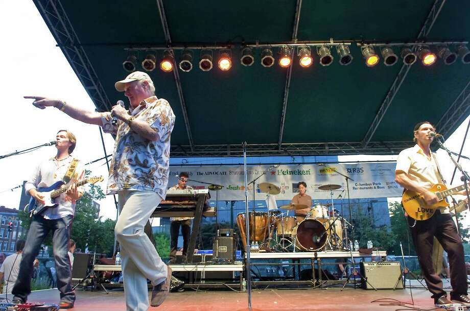 The Beach Boys perform and wrap up the Alive@Five concert series in Columbus Park in Stamford, Conn. on Thursday, Aug. 5,  2010. They will do the same for the 2014 season, appearing on Thursday, Aug. 14, 2014, in the downtown park. Photo: File Photo, ST / Stamford Advocate