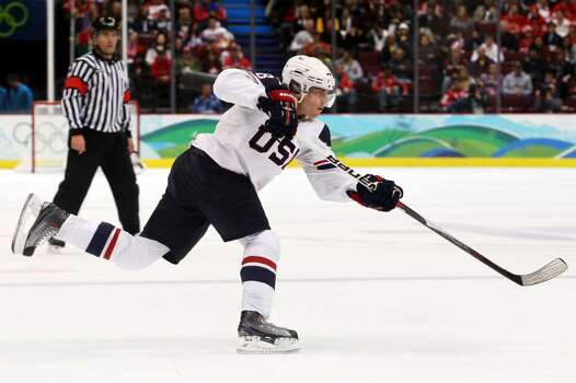 VANCOUVER, BC - FEBRUARY 18:  Patrick Kane of the United States in action during the ice hockey men's preliminary game between USA and Norway on day 7 of the 2010 Winter Olympics at Canada Hockey Place on February 18, 2010 in Vancouver, Canada.  (Photo by Bruce Bennett/Getty Images) *** Local Caption *** Patrick Kane Photo: Bruce Bennett, Getty Images / 2010 Getty Images