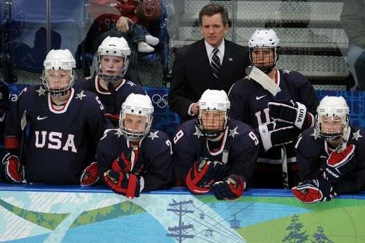 VANCOUVER, BC - FEBRUARY 18:  US coach Mark Johson watches the ice hockey women's preliminary game between USA and Finland on day 7 of the 2010 Vancouver Winter Olympics at UBC Thunderbird Arena on February 18, 2010 in Vancouver, Canada.  (Photo by Harry How/Getty Images) *** Local Caption *** Mark Johson Photo: Harry How, Getty Images / 2010 Getty Images