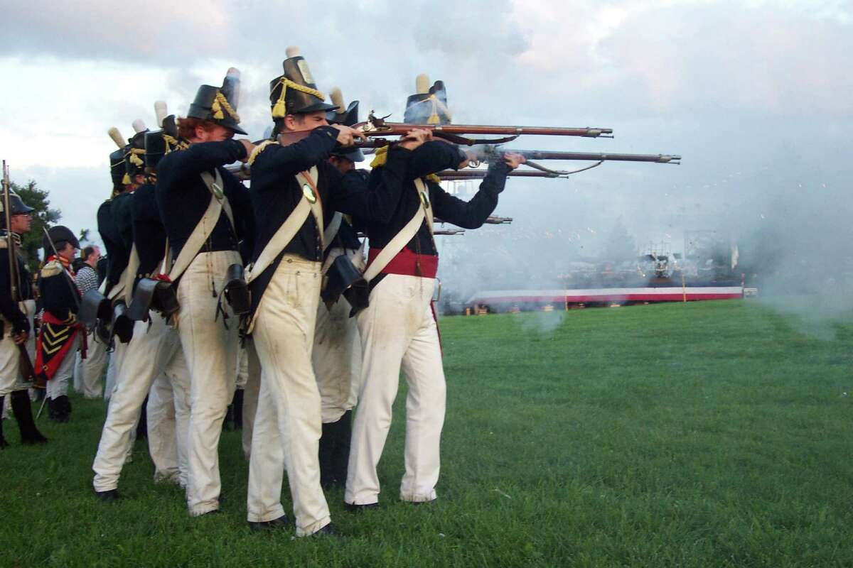Fort McHenry's 1814 staff and volunteer interpreters often stage tactical demonstrations on the historic grounds before large crowds.