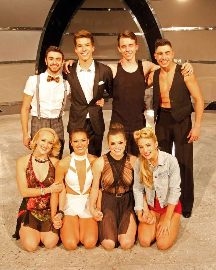 SO YOU THINK YOU CAN DANCE: The current Top 8 contestants (L-R Front Row) Tanisha Belnap, Jacque LeWarne, Valerie Rockey and Jessica Richens, (L-R Top Row) Ricky Ubeda, Casey Askew, Zack Everhart Jr. and Rudy Abreu, on SO YOU THINK YOU CAN DANCE will come to S.A. for stage show. Photo: Fox