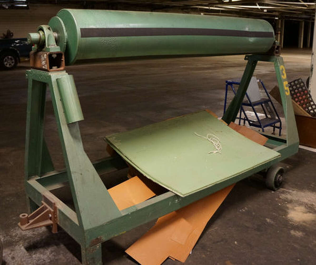 An industrial roller up for auction from the Mission Valley Mills. The New Braunfels Auction Company will sell items that were left behind at the mill at 11 a.m. Aug. 15 at the mill, 555 Porter Street in New Braunfels.Click through the gallery to see some of the items to be auctioned.