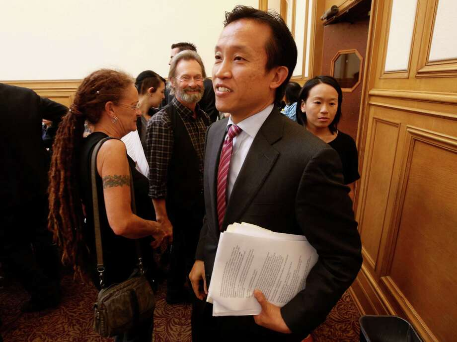 Supervisor David Chiu, here at a meeting last month, is considering changes to his proposed ordinance regulating short-term rentals. Photo: Michael Macor, Staff / The Chronicle / ONLINE_YES