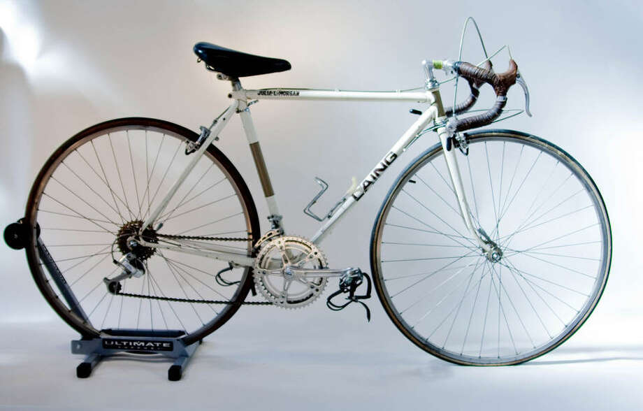 Colin Lain circa late 1970s. This bicycle is one of more than 12,000 hand-made by the British-American bicycle maker Colin Laing. Photo: Sara Schoenfield Murphy