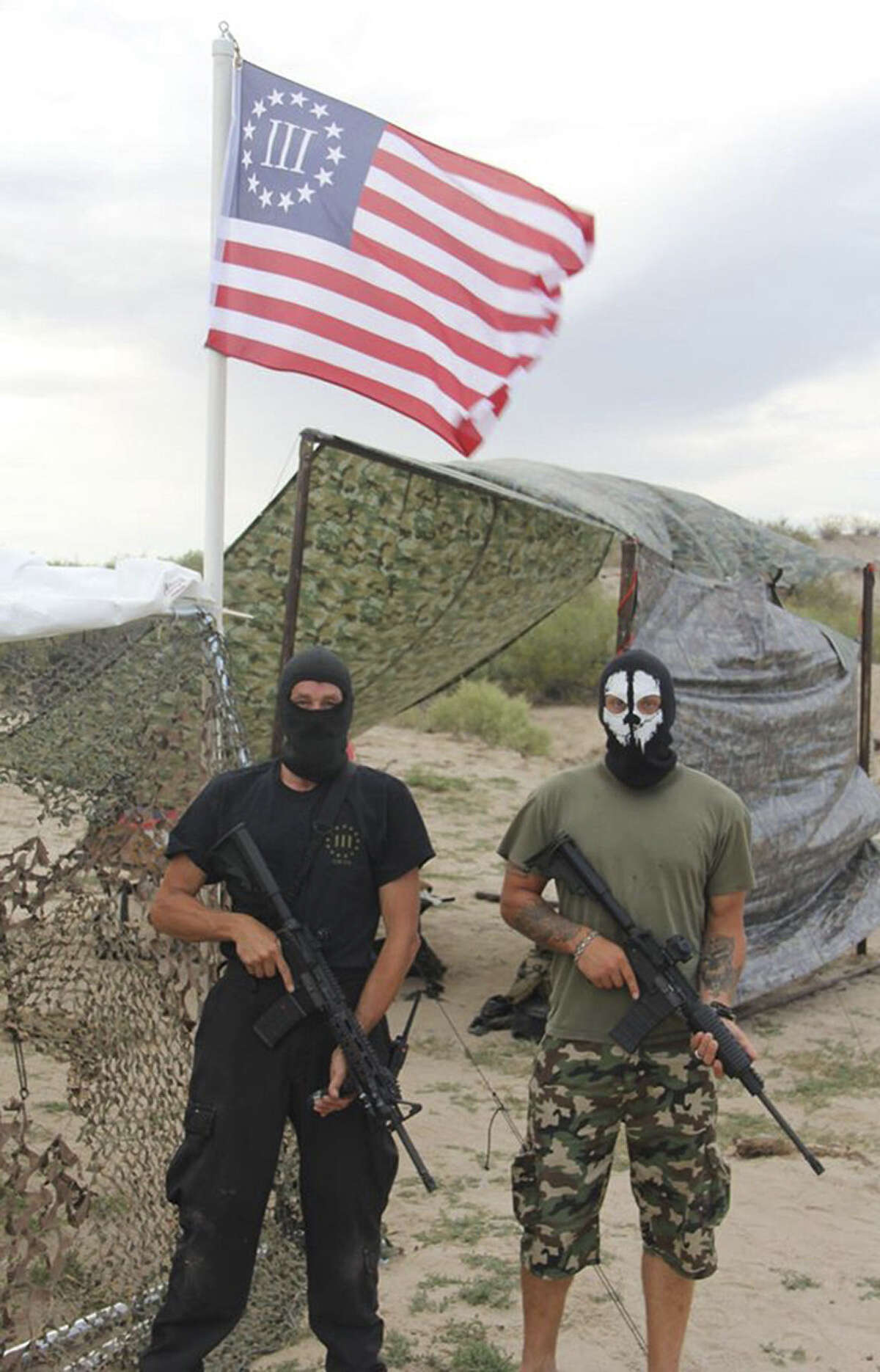 In the wake of the latest surge of immigrants, militia groups on the U.S.-Mexico border carry semi-automatic rifles while wearing masks, camouflage and tactical gear. A reader questions why such groups are necessary.