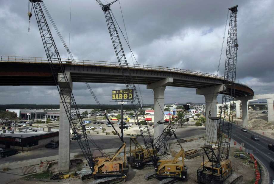 Major highway projects, such as the Loop 1604 and U.S. 281 interchange, that receive federal dollars get them from the Highway Trust Fund, which is underwritten by a gasoline tax that hasn't been changed in more than two decades. Photo: Express-News File Photo / ©SAN ANTONIO EXPRESS-NEWS